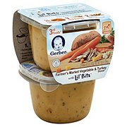 Gerber 3rd Foods Vegetable and Turkey with Lil Bits 2 pk