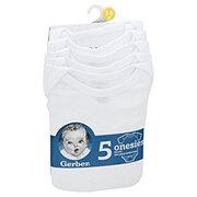 Gerber Baby Unisex Onesies, 5 PK