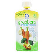 Gerber Grabbers Broccoli Carrot Banana Pineapple