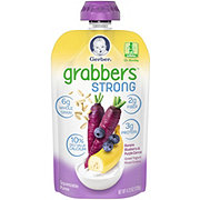 Gerber Grabbers Strong Banana, Blueberry & Purple Carrot, Greek Yogurt and Mixed Grains