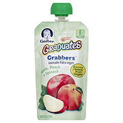 Gerber Graduates Grabbers Apple Peach & Spinach