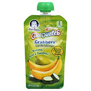 Gerber Graduates Grabbers Banana, Pear & Zucchini Squeezable Fruit and Veggies