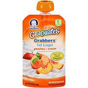 Gerber Graduates Grabbers Peaches & Cream Fruit & Yogurt