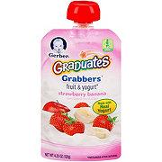 Gerber Graduates Grabbers Strawberry Banana Fruit & Yogurt