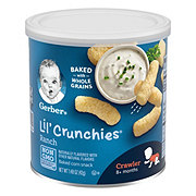 Gerber Graduates Lil Crunchies Ranch Baked Whole Grain Corn Snacks