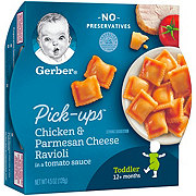 Gerber Graduates Pasta Pick-Ups Chicken & Parmesan Cheese Ravioli in Tomato Sauce
