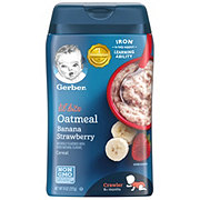 Gerber Lil' Bits Oatmeal Banana Strawberry Cereal