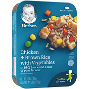 Gerber Lil' Entrees Chicken & Brown Rice with Vegetables in BBQ Sauce and a Side of Peas & Corn