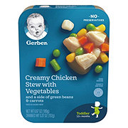 Gerber Lil' Entrees Creamy Chicken Stew with Vegetables and a side of Green Beans & Carrots