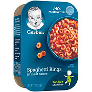 Gerber Lil' Entrees Spaghetti Rings in Meat Sauce