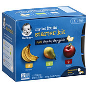 Gerber My 1st Fruits Starter Kit, Bananas Pears Apples 8 pk
