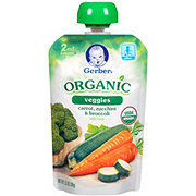 Gerber Organic 2nd Foods Carrots, Zucchini & Broccoli Pouch
