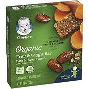 Gerber Organic Fruit & Veggie Bar Date & Sweet Potato with Oats and Chia