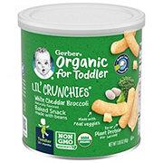 Gerber Organic Lil' Crunchies White Cheddar Broccoli