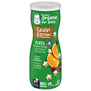 Gerber Organic Puffs Cranberry Orange