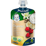 Gerber Organic Toddler Pouches Banana Raspberry & Yogurt with Vanilla