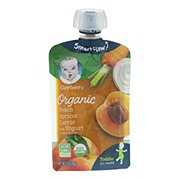 Gerber Organic Toddler Pouches Peach Apricot Carrot with Yogurt