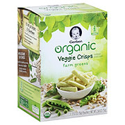 Gerber Organic Veggie Crisps Farm Greens