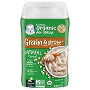 Gerber Organic Whole Grain Oatmeal Cereal