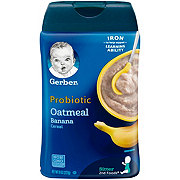 Gerber Probiotic Cereal Oatmeal Banana