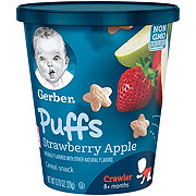 Gerber Puffs Strawberry Apple Cereal Snack Cup