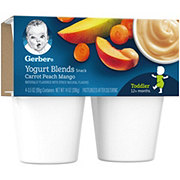 Gerber Yogurt Blends Carrot Peach Mango 4 pk