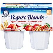 Gerber Yogurt Blends Snack Apple Cinnamon with Whole Grains