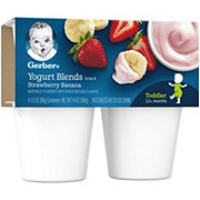 Gerber Yogurt Blends Snack Strawberry Banana 4 pk