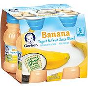 Gerber Yogurt Juice Banana Yogurt and Fruit Juices