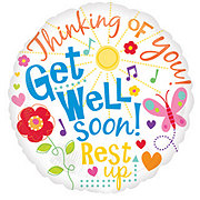 Get Well 18 Inch Single Balloon