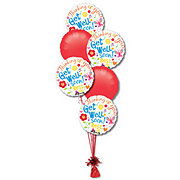 Get Well Half Dozen Balloon Bouquet