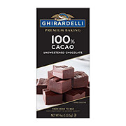 Ghirardelli 100% Cacao Unsweetened Chocolate Baking Bar