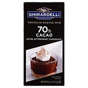 Ghirardelli 70% Cacao Extra Bittersweet Chocolate Premium Baking Bar