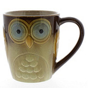 Gibson 17 Oz. Owl City Mug Brown