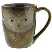 Gibson 17 Oz. Owl City Mug Green