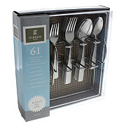 Gibson Abbeville Flatware Set With Wire Caddy