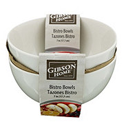Gibson Home Bistro 7 in. Bowls White
