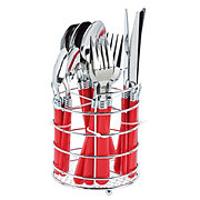 Gibson Home Sensations Flatware Set, Red