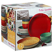 Gibson Home Speckle Double Bowl Set