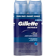 Gillette Series Moisturizing Shave Gel Twin Pack