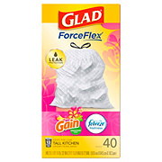 Glad Drawstring Gain Island Fresh Scent Tall Kitchen 13 Gallon Trash Bags