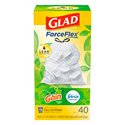 Glad Drawstring Gain Original Scent Tall Kitchen 13 Gallon Trash Bags
