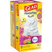 Glad Drawstring Moonlight Breeze Scent Tall Kitchen 13 Gallon Trash Bags