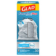 Glad ForceFlex Kitchen Pro Fresh Clean Drawstring 20 Gallon Trash Bags