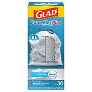 Glad ForceFlex Kitchen Pro Fresh Clean Scent Drawstring 20 Gallon Trash Bags