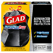 Glad ForceFlex Plus Drawstring 30 Gallon Trash Bags