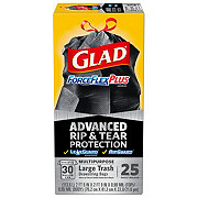 Glad ForceFlex Plus Drawstring Trash Bags 30 Gallon
