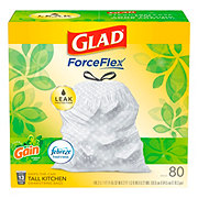 Glad Odor ShieldGain Original Scent Drawstring Tall Kitchen 13 Gallon Trash Bags Mega Pack