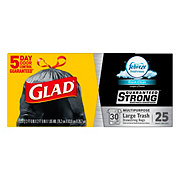 Glad OdorShield Fresh Clean Scent Drawstring 30 Gallon Trash Bags
