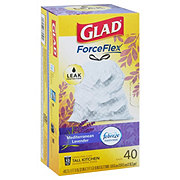 Glad OdorShield with Febreze Tall Kitchen Drawstring Trash Bags 13 Gallon